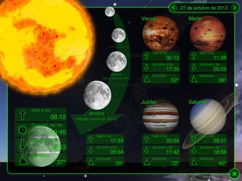 El Cielo de Octubre 2012 (40º Latitud N) | AstroMallorca.org