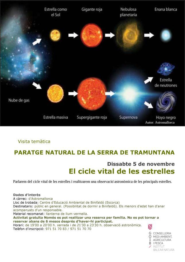 cicle vital estrelles
